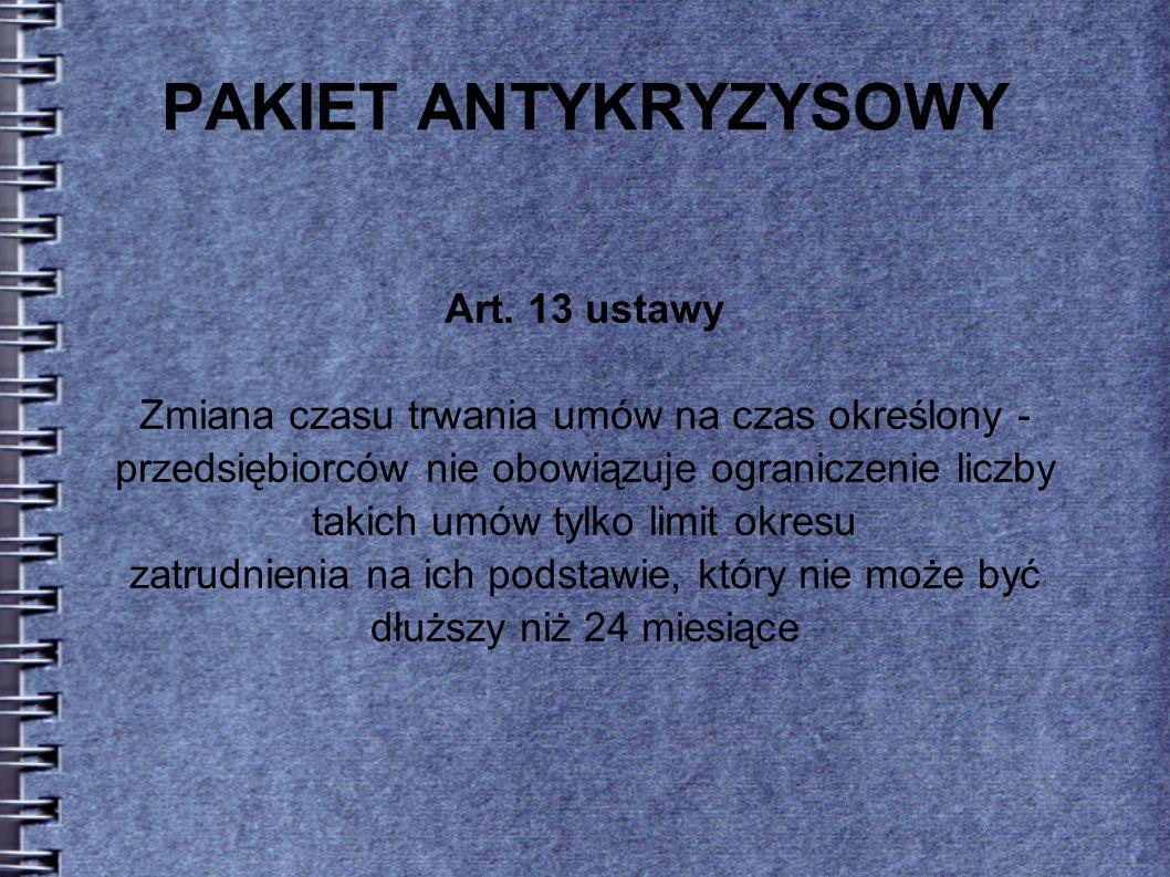 PAKIET ANTYKRYZYSOWY Art.