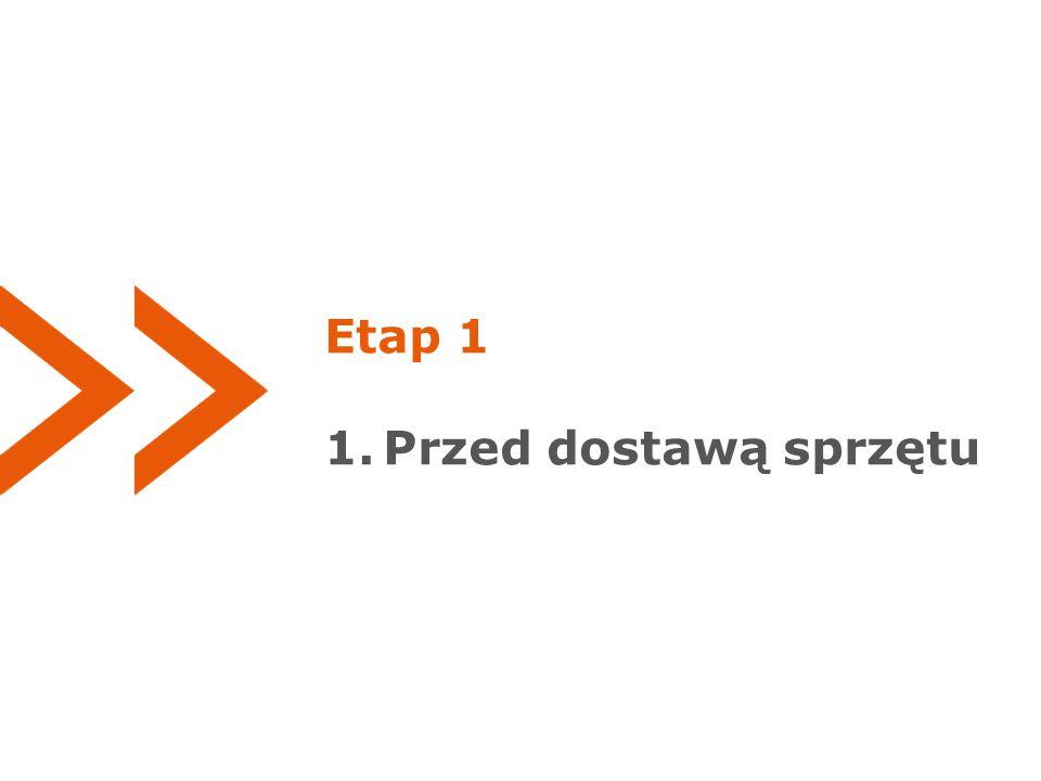 Etap 1 1.Przed dostawą sprzętu