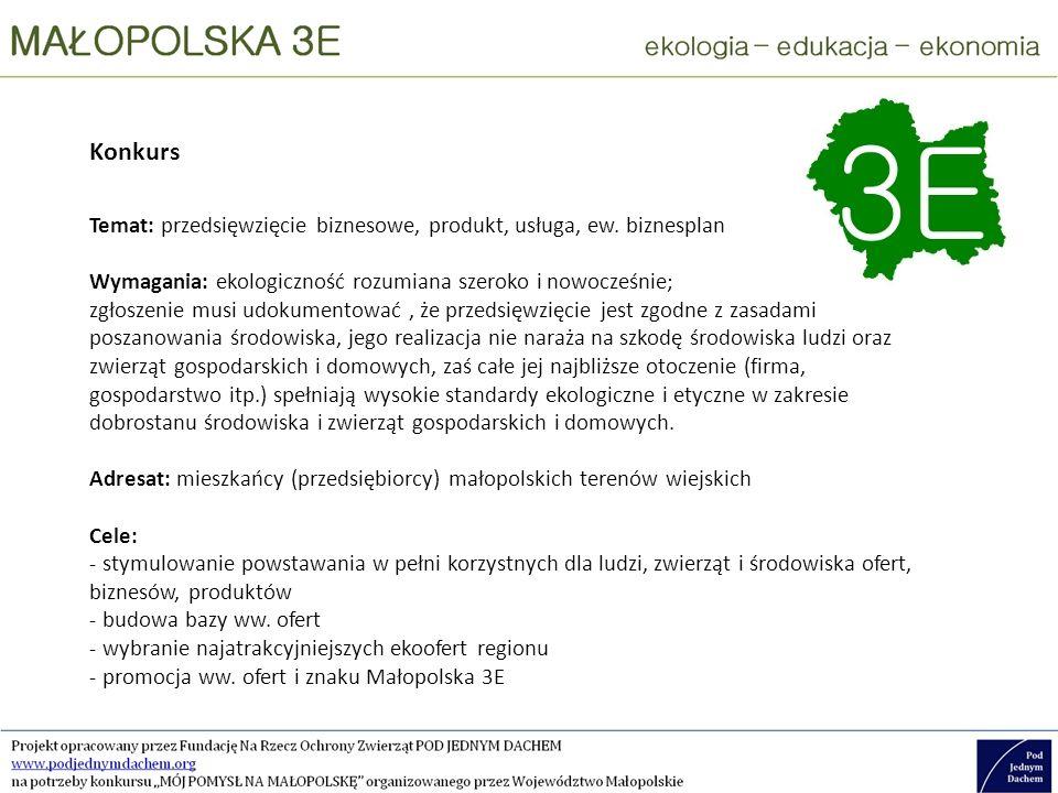 Targi ekoofert Adresaci: Jako wystawcy – przedsiębiorcy z obszaru Małopolski spełniający Kryteria podobne jak w konkursie Jako odwiedzający – wszyscy potencjalni klienci i partnerzy biznesowi krajowi i zagraniczni (w tym np.