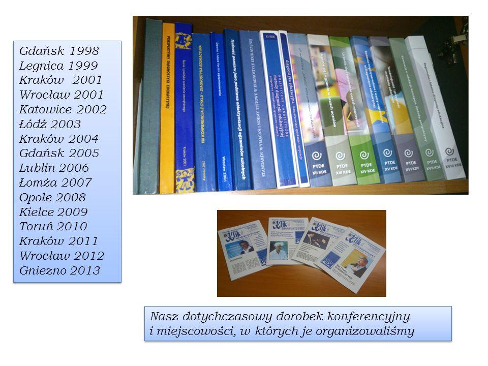 Nasz dotychczasowy dorobek konferencyjny i miejscowości, w których je organizowaliśmy Gdańsk 1998 Legnica 1999 Kraków 2001 Wrocław 2001 Katowice 2002
