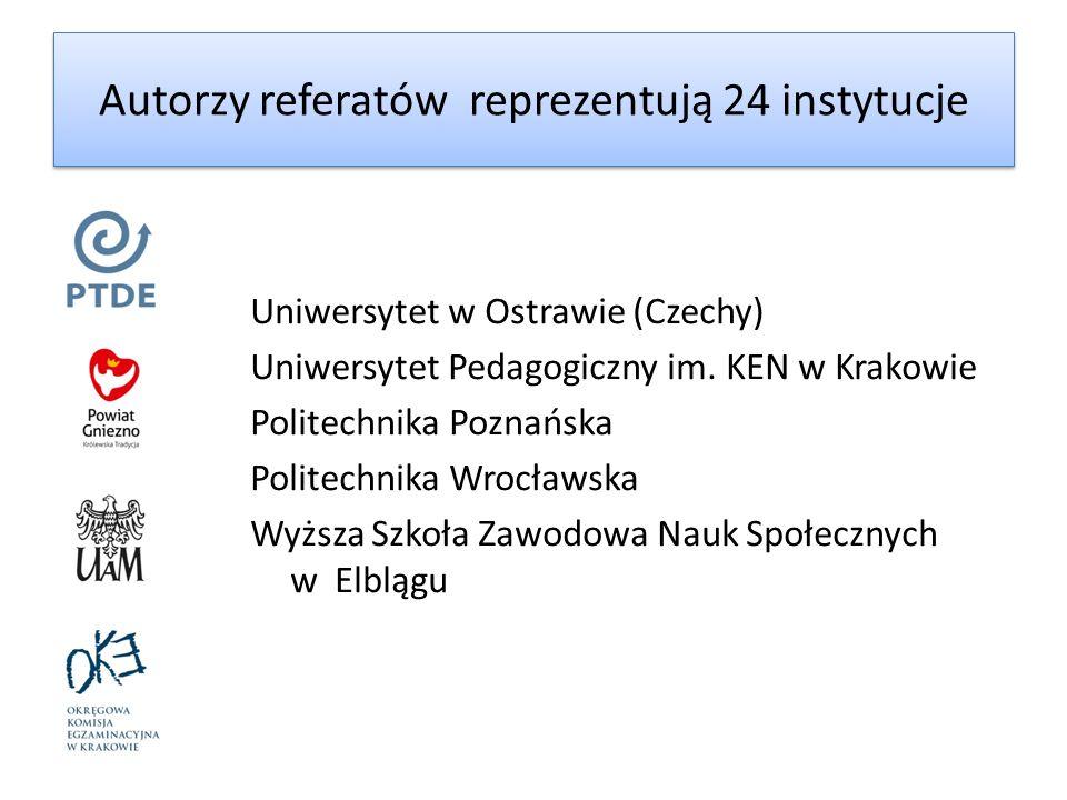 Uniwersytet w Ostrawie (Czechy) Uniwersytet Pedagogiczny im. KEN w Krakowie Politechnika Poznańska Politechnika Wrocławska Wyższa Szkoła Zawodowa Nauk