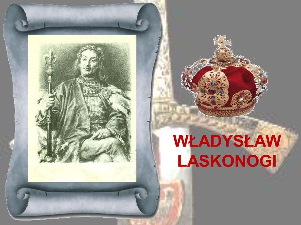 LESZEK BIAŁY 1194-1227Syn Kazimierza Sprawiedliwego, utrzymał się na tronie krakowskim po śmierci ojca dzięki poparciu jakiego udzielił mu biskup i wy
