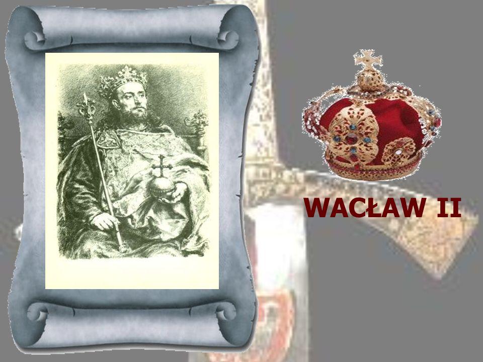 PRZEMYSŁ II 1295-1296 Książę z wielkopolskiej linii Piastów, dalszy potomek Mieszka Starego, objął rządy w Wielkopolsce w 1295 r. W drodze zapisu otrz