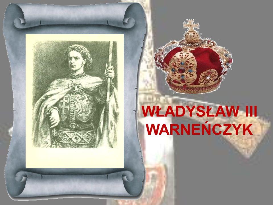 WŁADYSŁAW JAGIEŁŁO (1386-1434) Syn Olgierda, wielki książę pogańskiej Litwy, zagrożonej podobnie jak Polska przez Zakon Krzyżacki. Nawiązał kontakty z