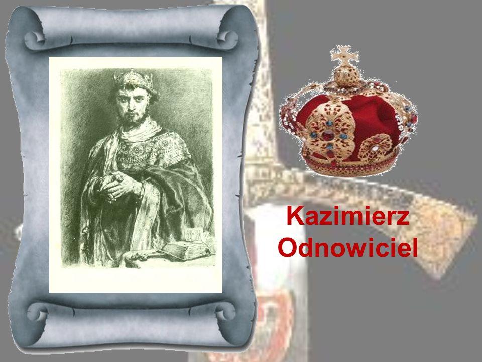 MIESZKO II 1025-1034Syn i spadkobierca Bolesława Chrobrego, objął tron po śmierci ojca i natychmiast koronował się na króla polskiego. Gdy wkrótce wyb