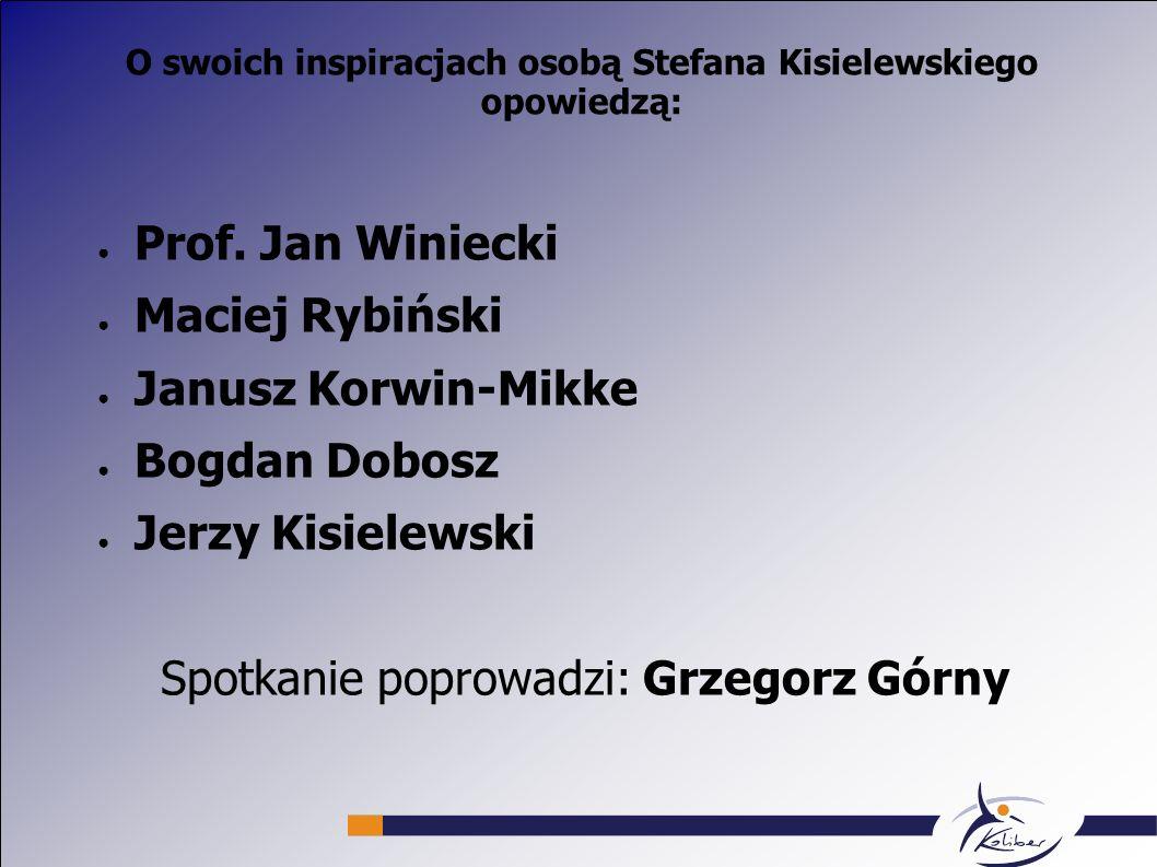 O swoich inspiracjach osobą Stefana Kisielewskiego opowiedzą: Prof.
