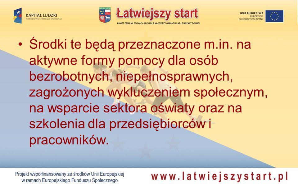 Finansowanie projektu –Podpisanie umowy pomiędzy Miastem Mszana Dolna, a Wojewódzkim Urzędem Pracy w Krakowie (instytucją Wdrażającą) nastąpiło 15 września 2009 r.