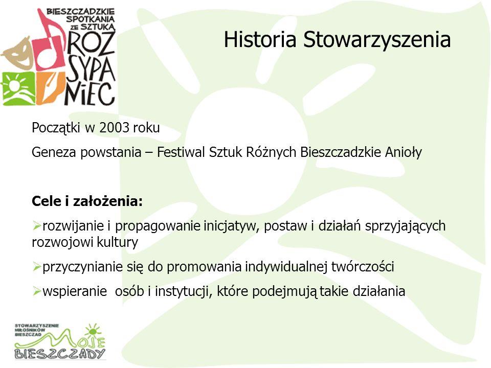 wspieranie inicjatyw i programów na rzecz rozwoju kulturalnego różnych regionów Polski, a w szczególności regionu Bieszczad i Beskidu Niskiego działanie na rzecz rozwoju instytucji samorządu terytorialnego oraz wspieranie wszelkich form rozwoju regionalnego współpracę z osobami i instytucjami w zakresie zbierania informacji i wymiany doświadczeń w zakresie organizowania festiwali muzycznych i poetyckich Stowarzyszenie realizuje cele między innymi przez: Działalność statutowa