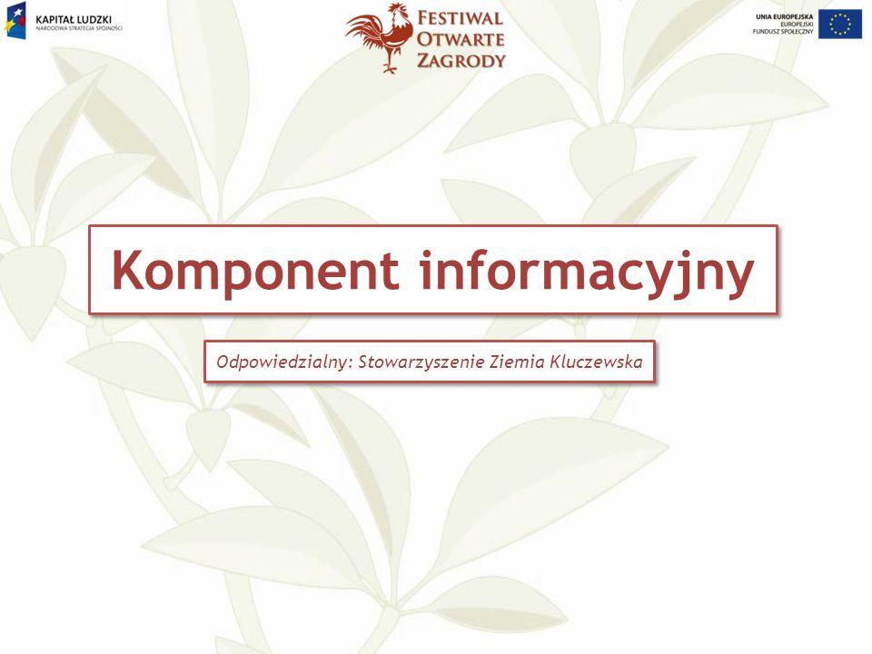 Komponent informacyjny Odpowiedzialny: Stowarzyszenie Ziemia Kluczewska
