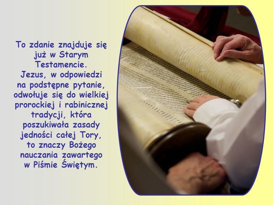 Zatem miłość jest wszystkim, ale żeby dobrze nią żyć, trzeba znać jej cechy, wynikające z Ewangelii i z całego Pisma Świętego.
