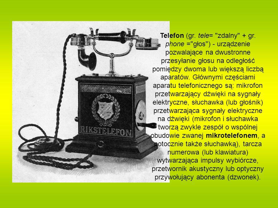 Telefon (gr. tele=