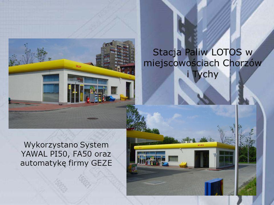 Stacja Paliw LOTOS w miejscowościach Chorzów i Tychy Wykorzystano System YAWAL PI50, FA50 oraz automatykę firmy GEZE