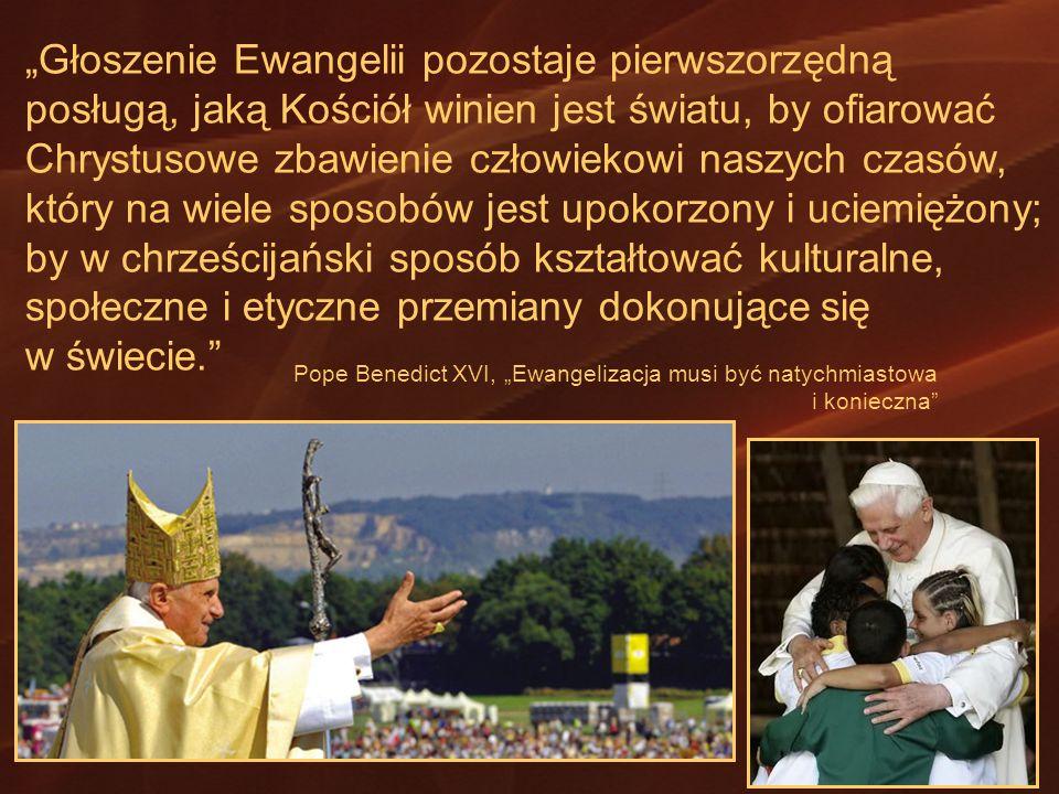 Głoszenie Ewangelii pozostaje pierwszorzędną posługą, jaką Kościół winien jest światu, by ofiarować Chrystusowe zbawienie człowiekowi naszych czasów,