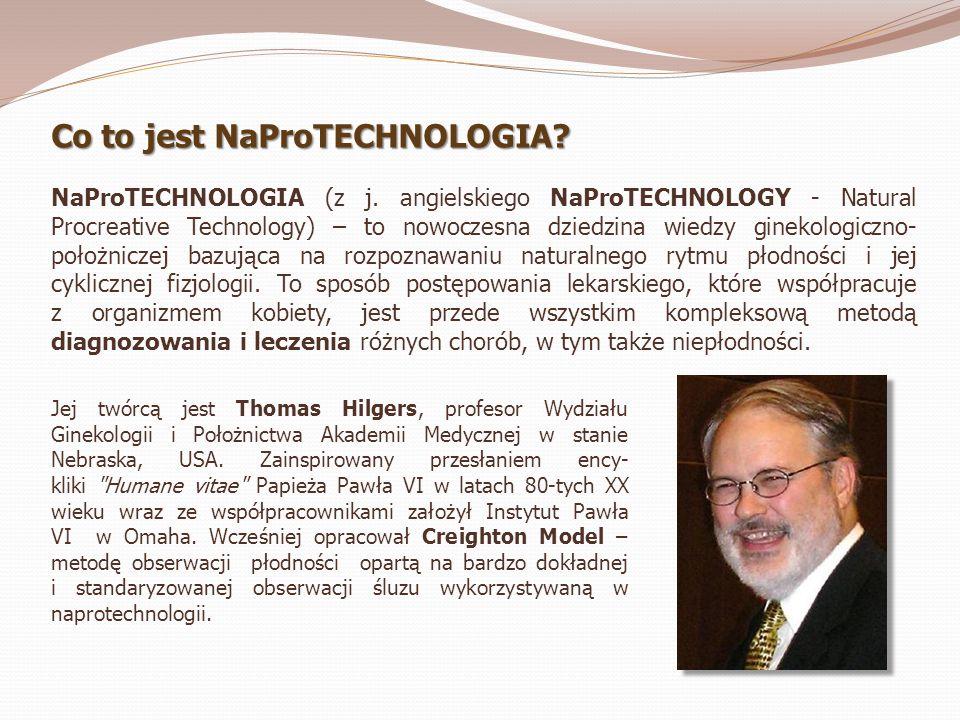 Co to jest NaProTECHNOLOGIA? NaProTECHNOLOGIA (z j. angielskiego NaProTECHNOLOGY - Natural Procreative Technology) – to nowoczesna dziedzina wiedzy gi