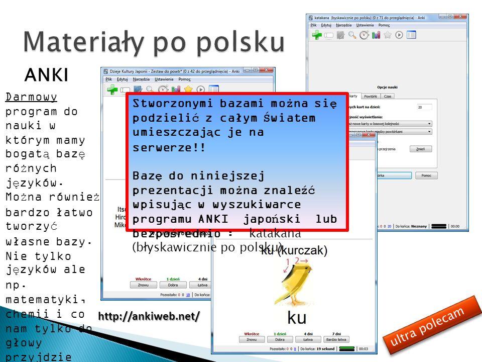ANKI Darmowy program do nauki w którym mamy bogatą bazę różnych języków. Można również bardzo łatwo tworzyć własne bazy. Nie tylko języków ale np. mat