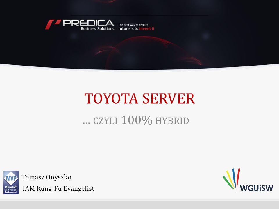 ... CZYLI 100% HYBRID Tomasz Onyszko IAM Kung-Fu Evangelist
