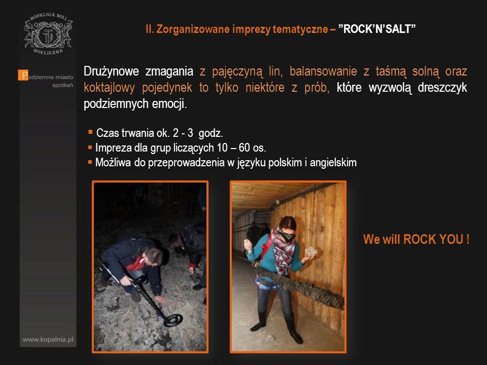 II. Zorganizowane imprezy tematyczne – ROCKNSALT Drużynowe zmagania z pajęczyną lin, balansowanie z taśmą solną oraz koktajlowy pojedynek to tylko nie