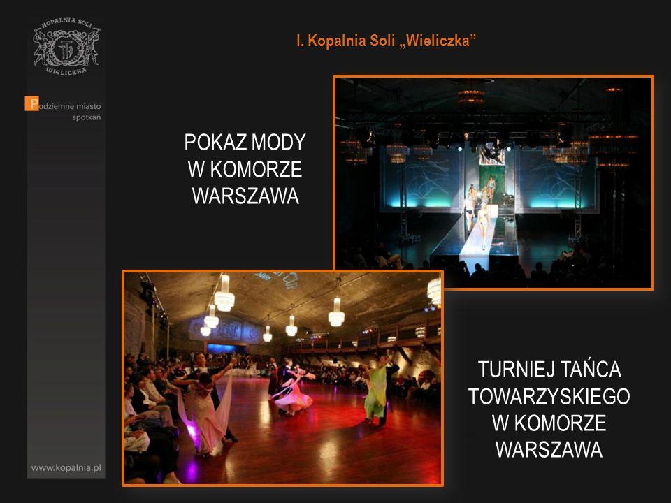 I. Kopalnia Soli Wieliczka TURNIEJ TAŃCA TOWARZYSKIEGO W KOMORZE WARSZAWA POKAZ MODY W KOMORZE WARSZAWA