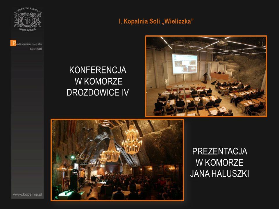 I. Kopalnia Soli Wieliczka PREZENTACJA W KOMORZE JANA HALUSZKI KONFERENCJA W KOMORZE DROZDOWICE IV
