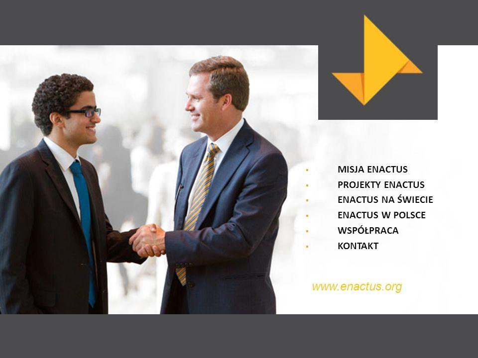 MISJA ENACTUS PROJEKTY ENACTUS ENACTUS NA ŚWIECIE ENACTUS W POLSCE WSPÓŁPRACA KONTAKT www.enactus.org