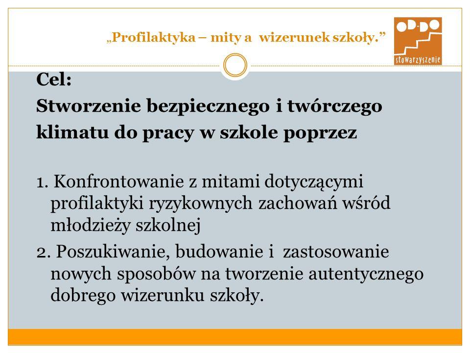 Profilaktyka – mity a wizerunek szkoły.