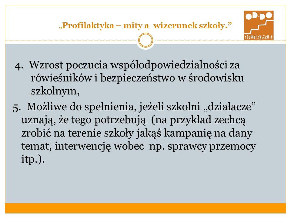 Profilaktyka – mity a wizerunek szkoły.4.