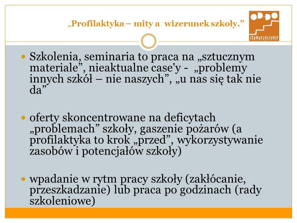 Profilaktyka – mity a wizerunek szkoły.3.