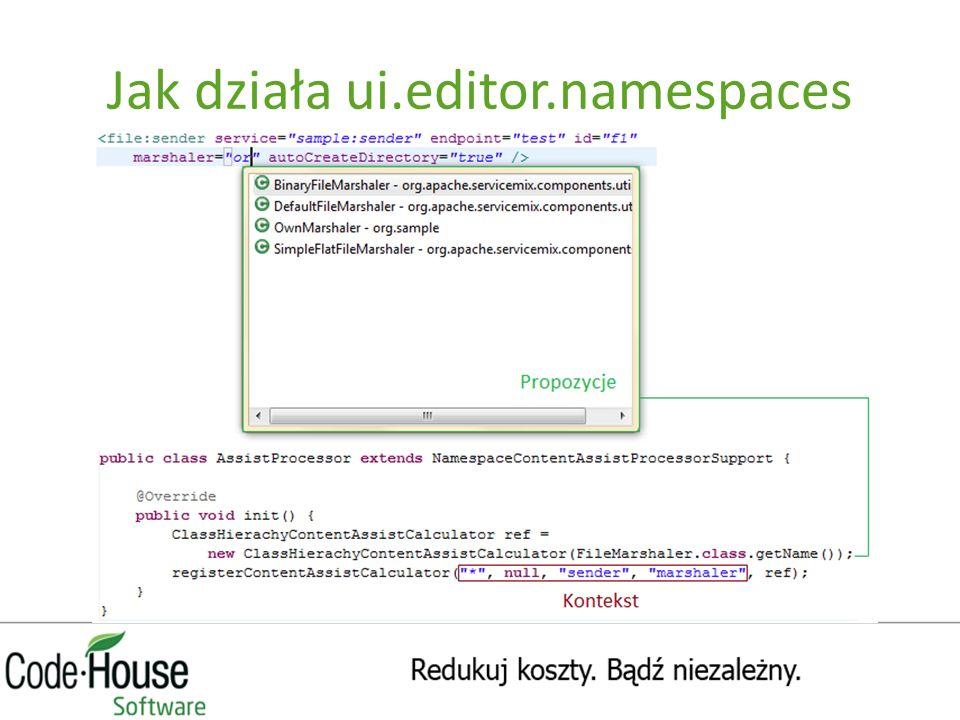 Jak działa ui.editor.namespaces