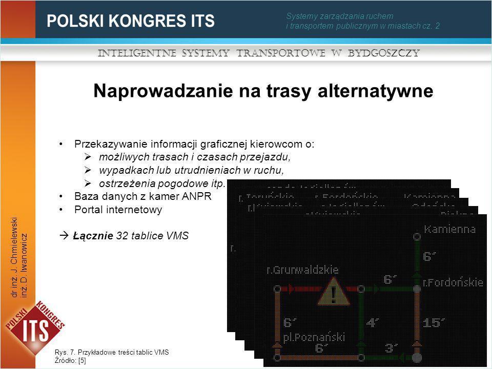 Systemy zarządzania ruchem i transportem publicznym w miastach cz. 2 Naprowadzanie na trasy alternatywne Inteligentne Systemy Transportowe w Bydgoszcz