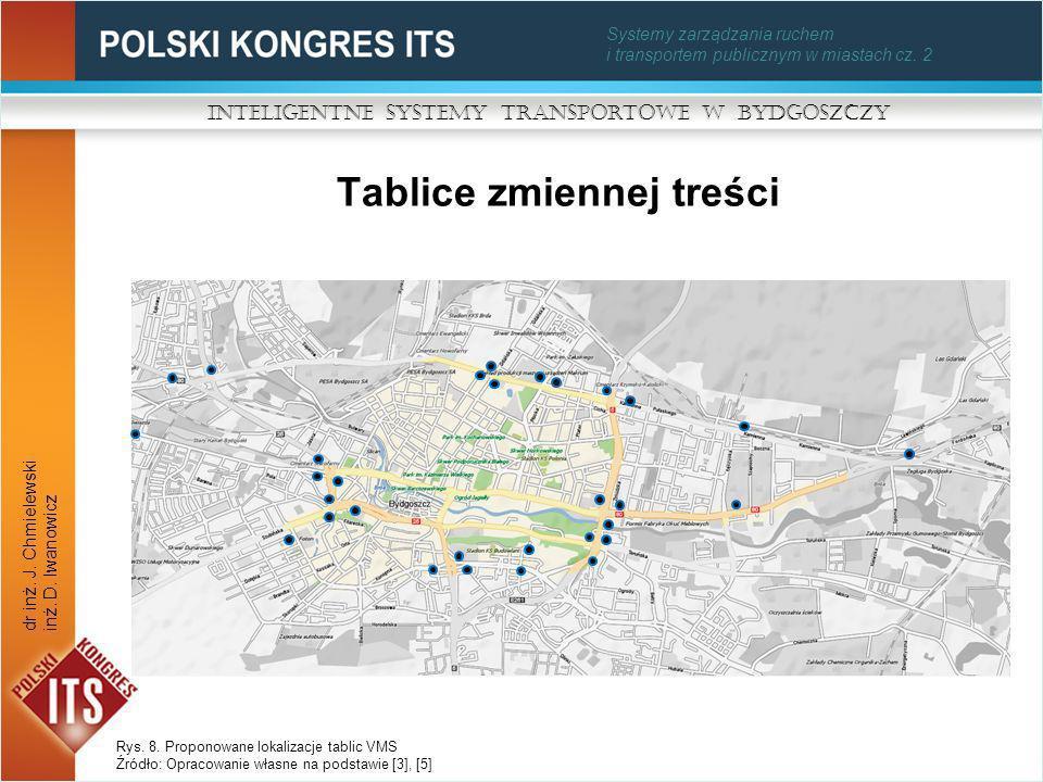 Systemy zarządzania ruchem i transportem publicznym w miastach cz. 2 Tablice zmiennej treści Inteligentne Systemy Transportowe w Bydgoszczy dr inż. J.