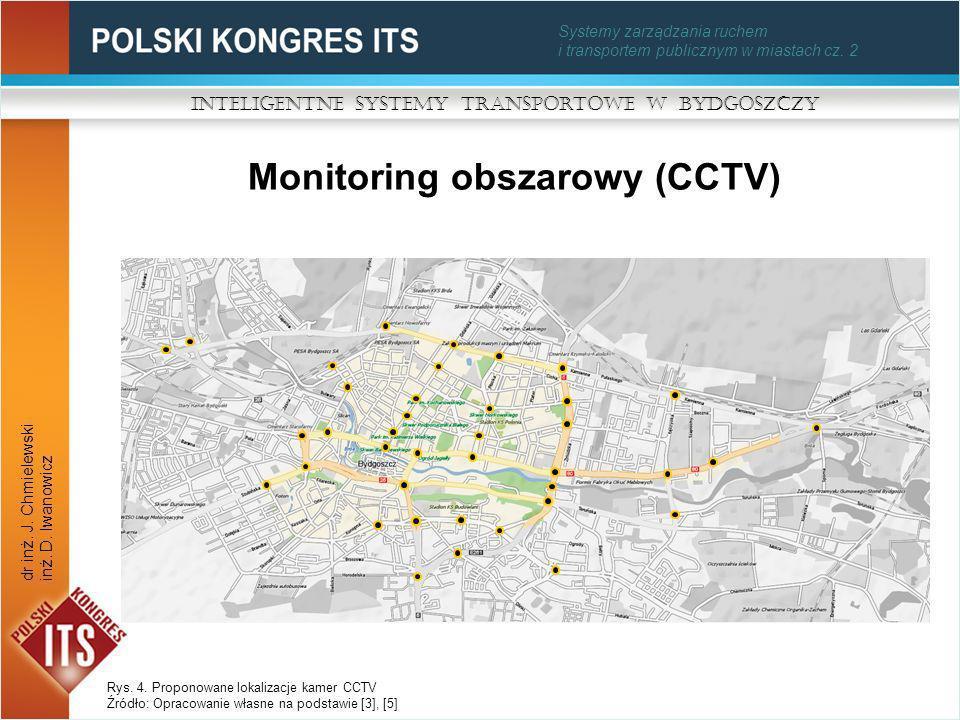 Systemy zarządzania ruchem i transportem publicznym w miastach cz. 2 Monitoring obszarowy (CCTV) Inteligentne Systemy Transportowe w Bydgoszczy dr inż