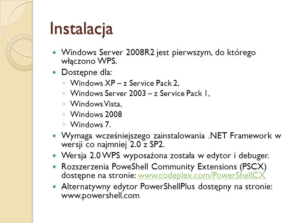 Instalacja Windows Server 2008R2 jest pierwszym, do którego włączono WPS. Dostępne dla: Windows XP – z Service Pack 2, Windows Server 2003 – z Service