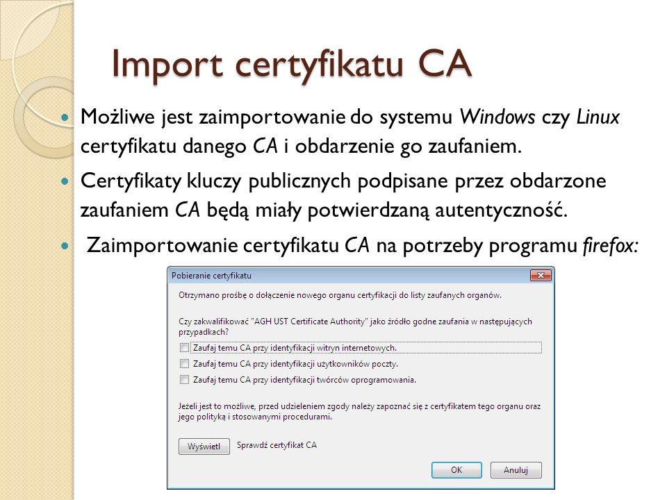 Listy odwołań certyfikatów Lista odwołanych certyfikatów – CRL (ang.