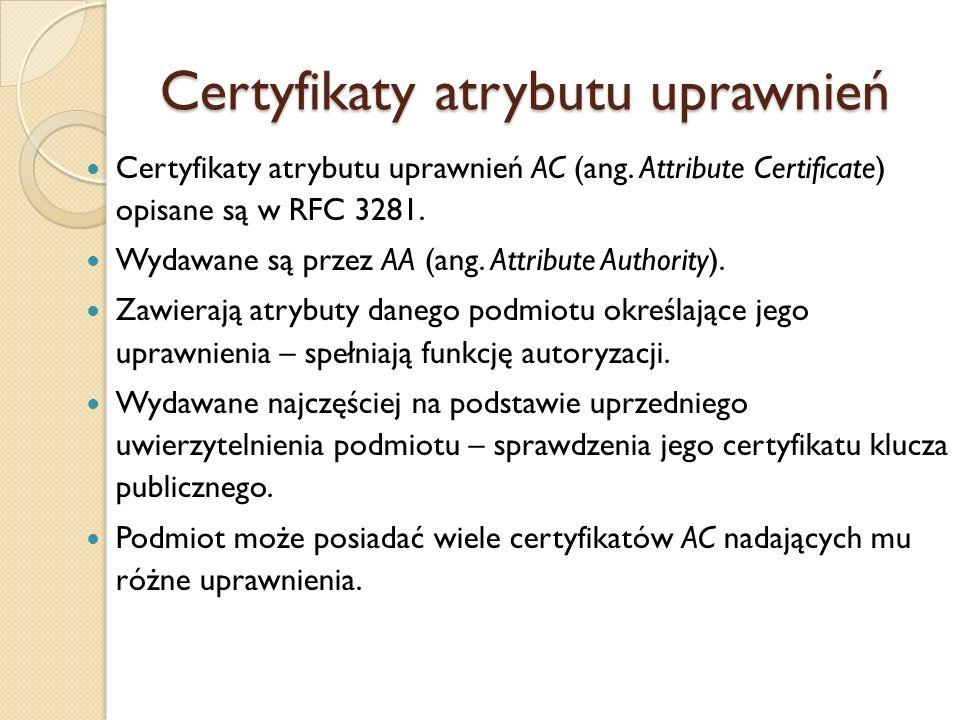 Sposób uzyskania certyfikatu 1.
