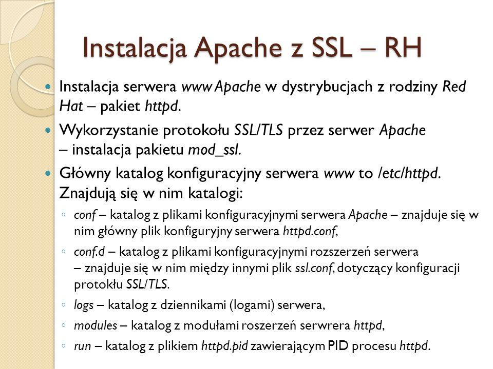 Plik konfiguracyjny serwera – /etc/httpd/conf/httpd.conf.