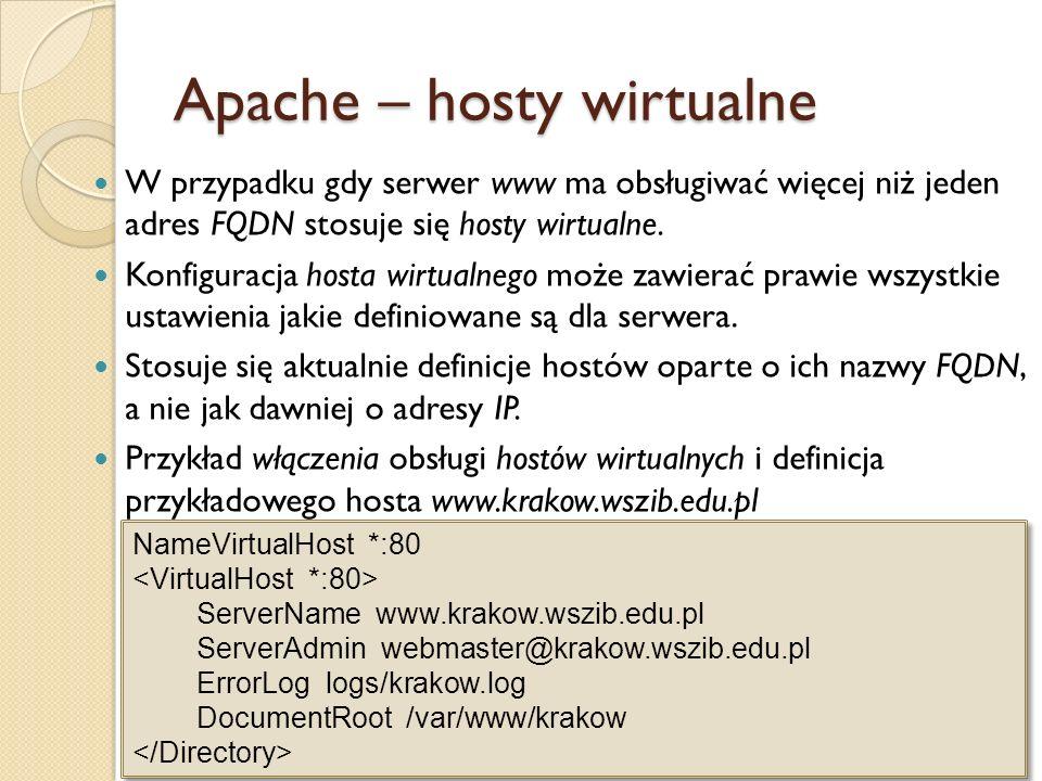 W celu udostępnienia serwera www za pośrednictwem protokołu HTTPS konieczna jest instalacja i konfiguracja modułu mod_ssl.