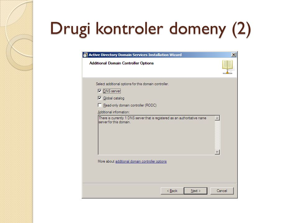 Drugi kontroler domeny (2)
