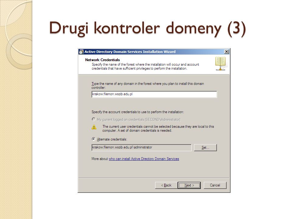 Drugi kontroler domeny (3)