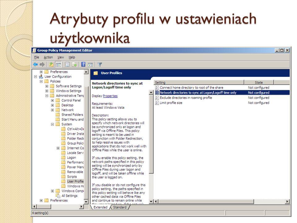Przekierowanie folderu Problemem profili mobilnych są potencjalnie duże ilości danych przechowywanych na pulpicie czy w folderze Documents.