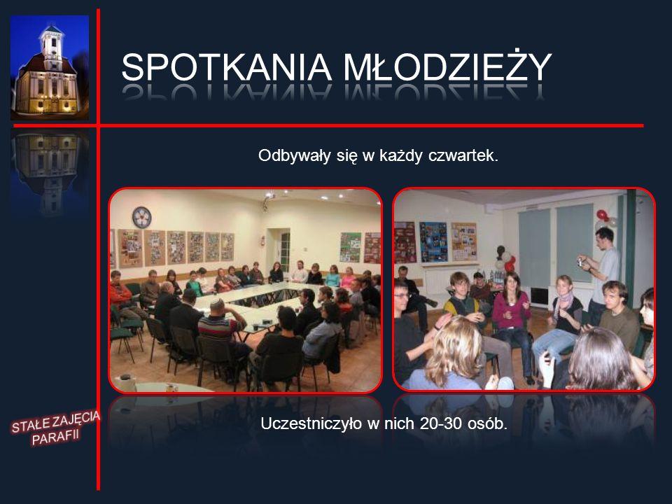 Odbywały się w każdy czwartek. Uczestniczyło w nich 20-30 osób.