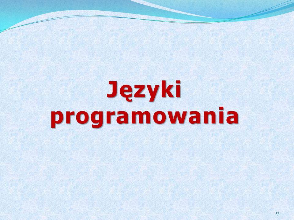 Języki programowania 13