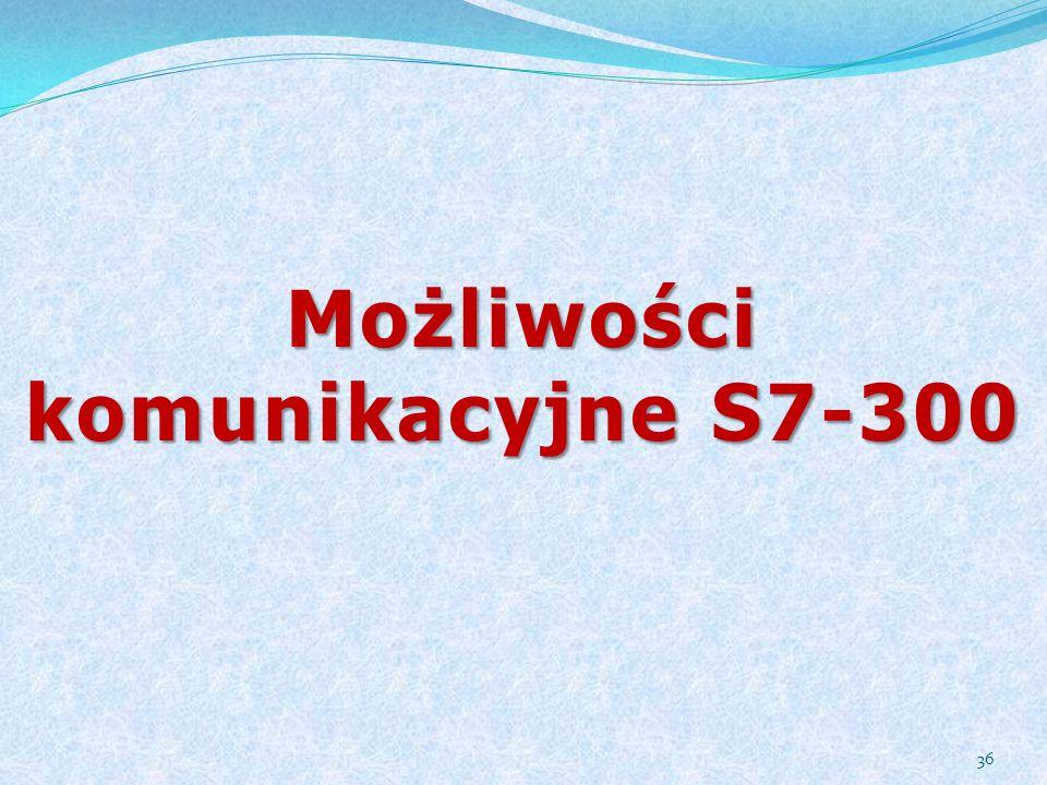 Możliwości komunikacyjne S7-300 36