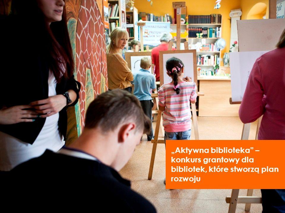 Aktywna biblioteka – konkurs grantowy dla bibliotek, które stworzą plan rozwoju