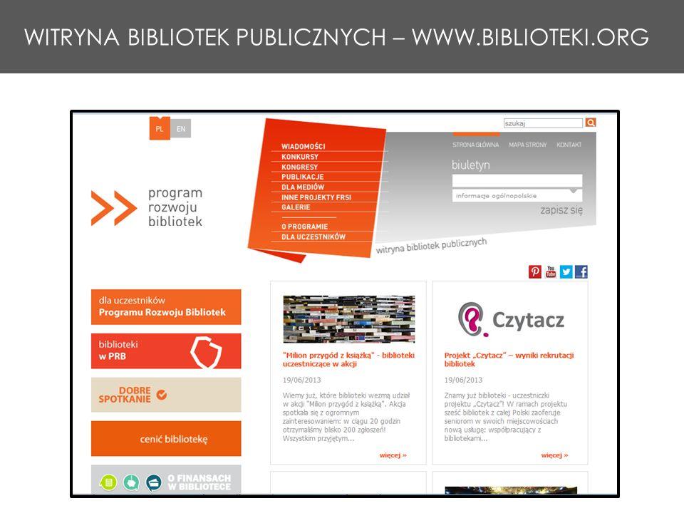 WITRYNA BIBLIOTEK PUBLICZNYCH – WWW.BIBLIOTEKI.ORG