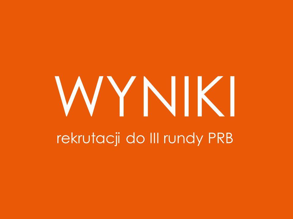 WYNIKI rekrutacji do III rundy PRB