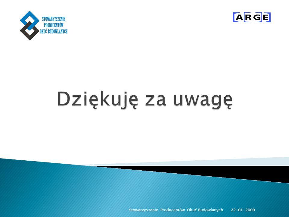 22-01-2009 Stowarzyszenie Producentów Okuć Budowlanych