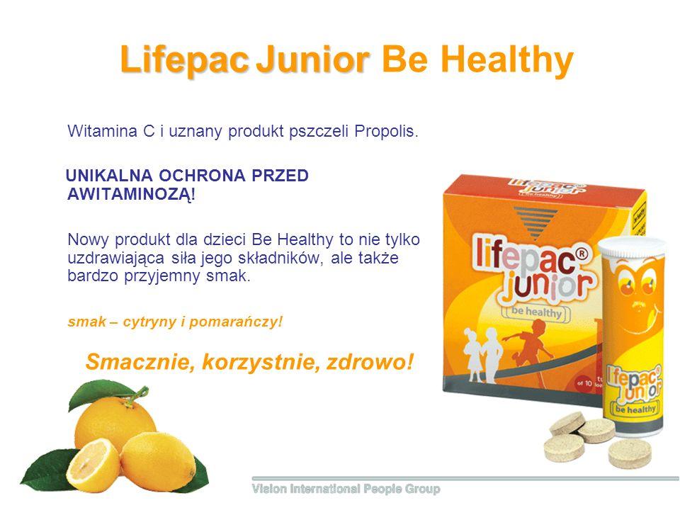 Lifepac Junior Lifepac Junior Be Healthy Witamina С i uznany produkt pszczeli Propolis. UNIKALNA OCHRONA PRZED AWITAMINOZĄ! Nowy produkt dla dzieci Ве