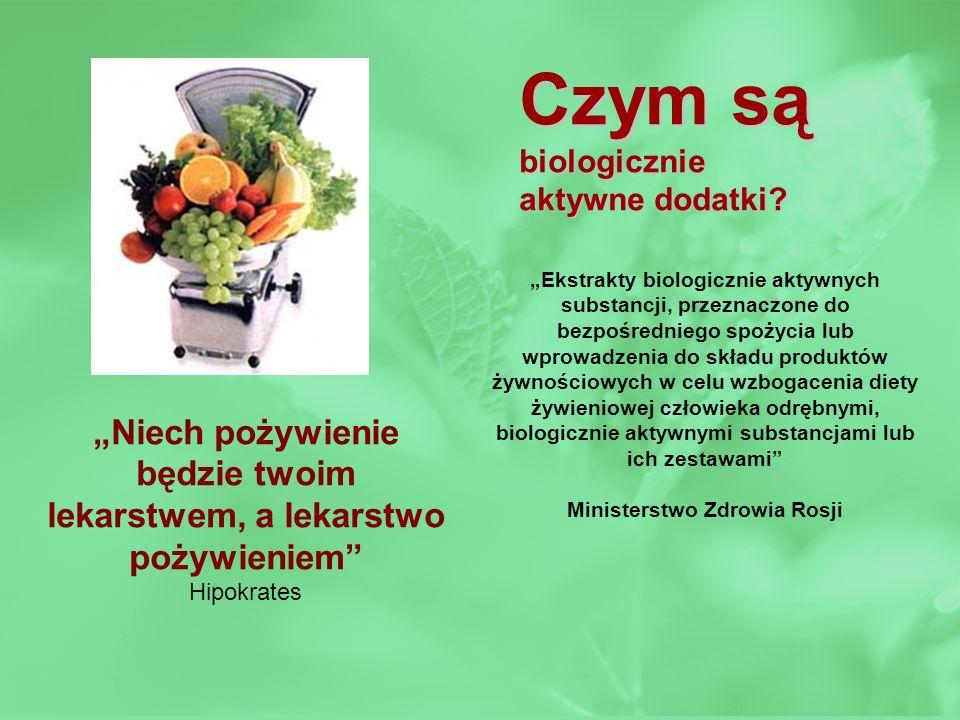 Czym są biologicznie aktywne dodatki? Ekstrakty biologicznie aktywnych substancji, przeznaczone do bezpośredniego spożycia lub wprowadzenia do składu