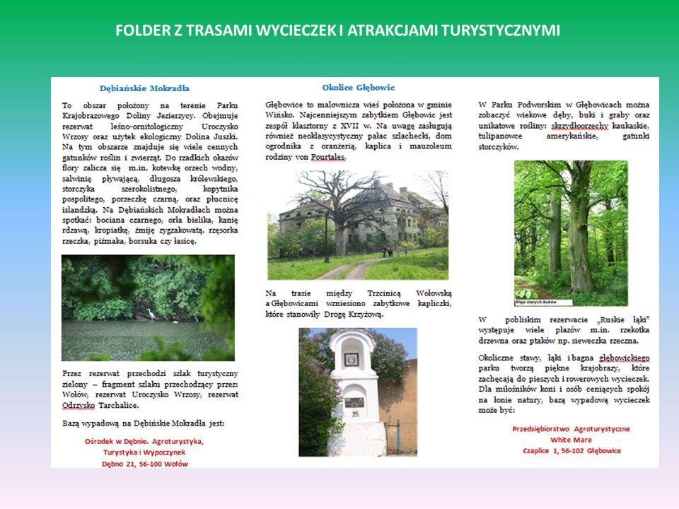 (Z)agro(sz)turystyka w okolicach Wołowa: pieszo, rowerem, autokarem Prezentujemy efekty naszej pracy w gospodarstwie agroturystycznym w Dębnie