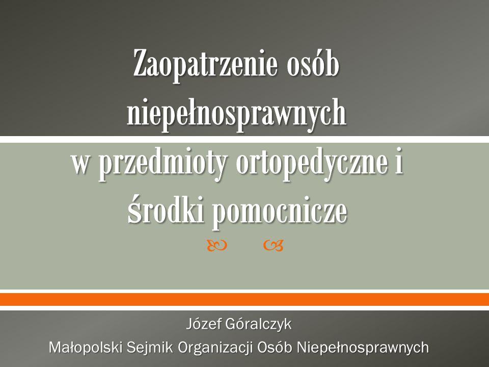 Józef Góralczyk Małopolski Sejmik Organizacji Osób Niepełnosprawnych